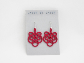 Quad Flourish Earrings in Pink Strong & Flexible Polished