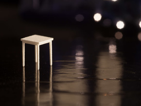 1:48 Square Table in White Strong & Flexible