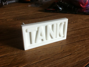 TANK belt buckle in White Strong & Flexible