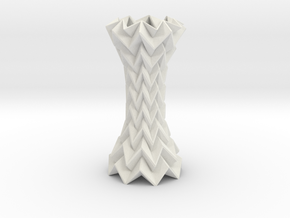 Decorative Column Tessellated Short in White Strong & Flexible