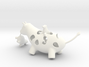 Mother Giraffe in White Strong & Flexible Polished