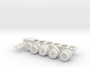 Mack MR Chassis, tires, spacers, axles in White Strong & Flexible