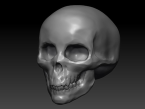 small skull hollow in White Strong & Flexible Polished