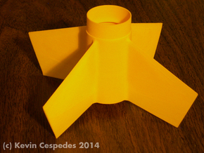 Goblin-style Fin Unit BT55 for 24mm motors in Yellow Strong & Flexible Polished