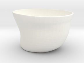 Tea cup in White Strong & Flexible Polished
