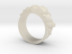 Shard Ring in White Acrylic