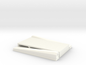 """1/8 Intercooler 12"""" Flow Length By 24"""" Wide in White Strong & Flexible Polished"""