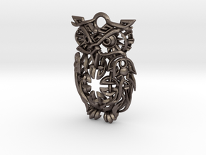 Celtic Owl Pennant 40mm in Stainless Steel