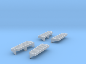 O Scale 1:48 Brill Bullet Door Treads Set of 4 in Frosted Ultra Detail