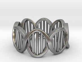 DNA Ring (Size 6) in Raw Silver