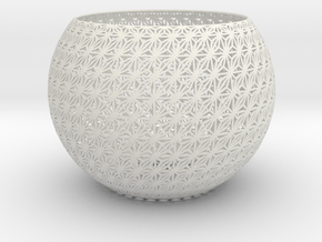 Lamp Shade-6s in White Strong & Flexible
