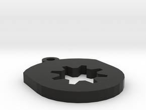 Gear Insert For Circular Frame Pendant in Black Strong & Flexible