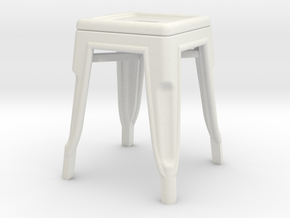 1:24 Low Pauchard Stool in White Strong & Flexible