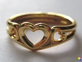 Hearts in 14k Gold Plated