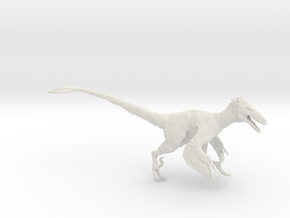 Deinonychus antirrhopus 1:15 scale model in White Strong & Flexible