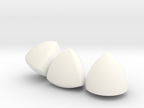 [Small] 3 Different Solids Of Constant Width in White Strong & Flexible Polished