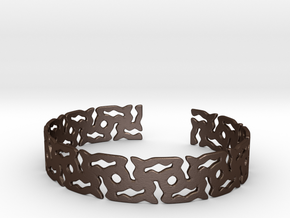 Khandi bangle B Single in Matte Bronze Steel