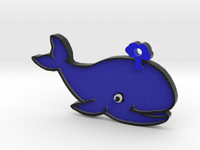 Blue Whale Keychain in Full Color Sandstone