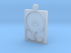 Hard Drive Pendant in Frosted Ultra Detail