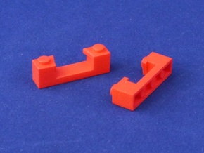 Marble Run Bricks: Gate Bricks Set in Red Strong & Flexible Polished