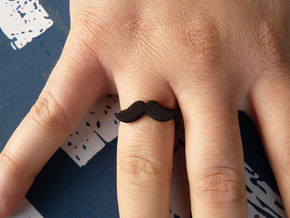 Ring Moustache Plastic in Black Strong & Flexible