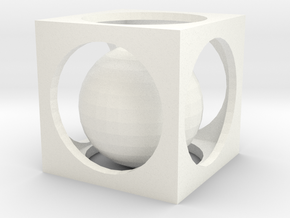 Small Box Puzzle in White Strong & Flexible Polished