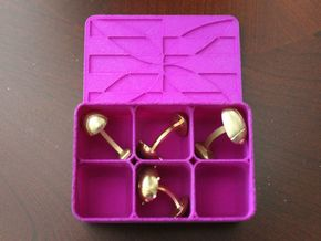Cufflinks Box in Purple Strong & Flexible Polished