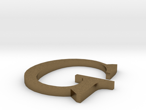 Letter-G in Raw Bronze