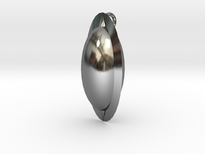 Oval Pendant in Polished Silver