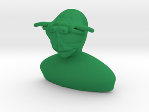 Primitive Yoda bust in Green Strong & Flexible Polished