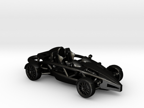 Ariel Atom, steel key fob HO scale, RHD w/o wings in Matte Black Steel