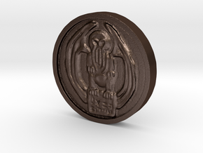 Cthulhu Coin in Matte Bronze Steel
