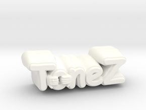 ToneZ Knob - Comic Sans Edition in White Strong & Flexible Polished