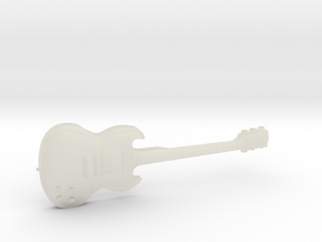 Gibson SG Guitar 1:18 in Transparent Acrylic