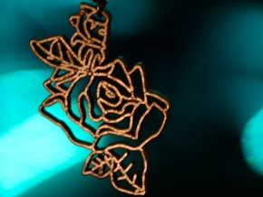Fairy Blossom Pendant in Polished Bronze Steel