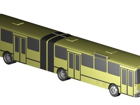 Gelenkbus / articulated bus (1:220) in Frosted Ultra Detail