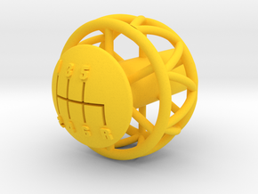 Ariel Atom 6 Speed knob for Ecotec - Helicoil in Yellow Strong & Flexible Polished