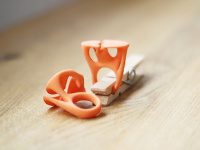 MYCELIUM - Ring size 7/17mm in Orange Strong & Flexible Polished