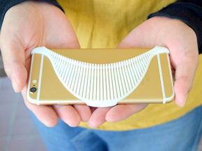 MANTA - 3d printed iphone 6 case - in White Strong & Flexible Polished