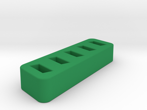USB-Stick / Flash Drive Holder in Green Strong & Flexible Polished