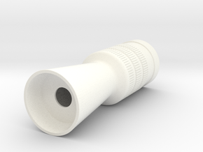 Flash Hider Luke in White Strong & Flexible Polished