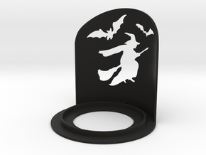 Halloween Witch Tea Candle Holder in Black Strong & Flexible
