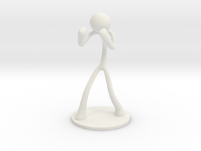 MTI Stickman-poses03 in White Strong & Flexible