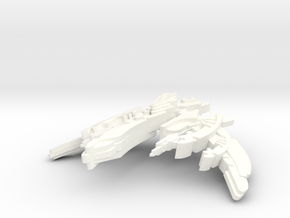 Breen Attack Ship 2 in White Strong & Flexible Polished