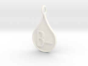 Blood type B- in White Strong & Flexible Polished