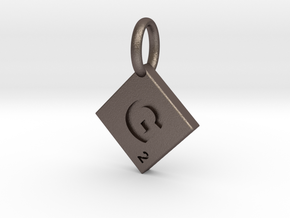 SCRABBLE TILE PENDANT  G in Stainless Steel