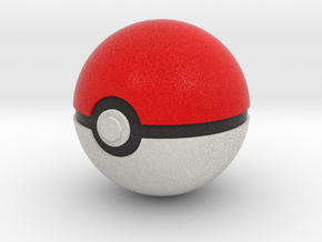 Pokeball 4cm in diameter. in Full Color Sandstone