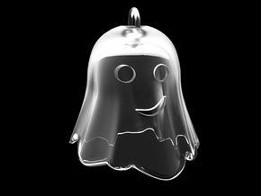 Little Ghostie pendant 2 in Transparent Acrylic