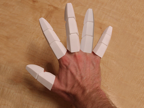 Iron Man Fingers - One Hand in White Strong & Flexible