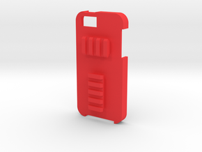iPhone 5 Picatinny Case (Back Rails) in Red Strong & Flexible Polished